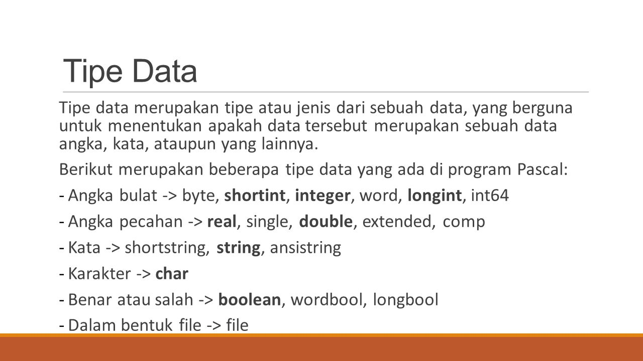 Tipe Data