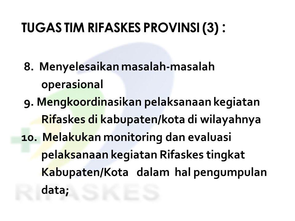 TUGAS TIM RIFASKES PROVINSI (3) :
