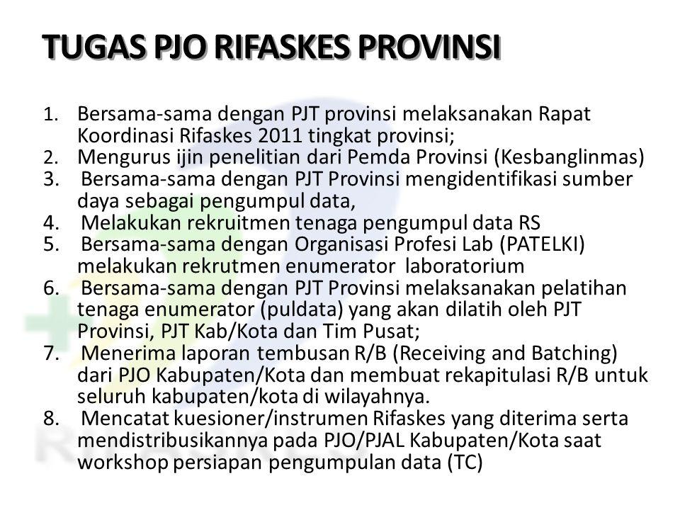 TUGAS PJO RIFASKES PROVINSI