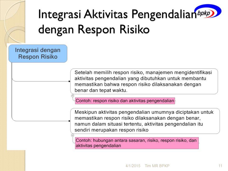 Integrasi Aktivitas Pengendalian dengan Respon Risiko
