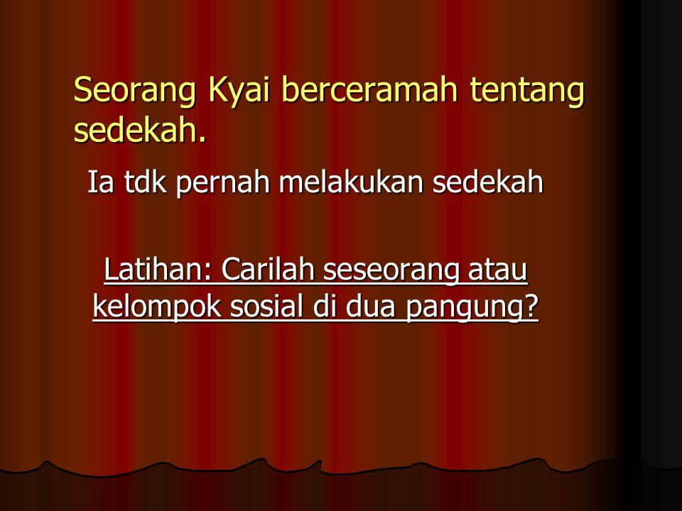 Seorang Kyai berceramah tentang sedekah.