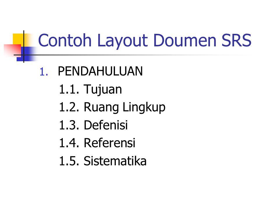 Contoh Layout Doumen SRS