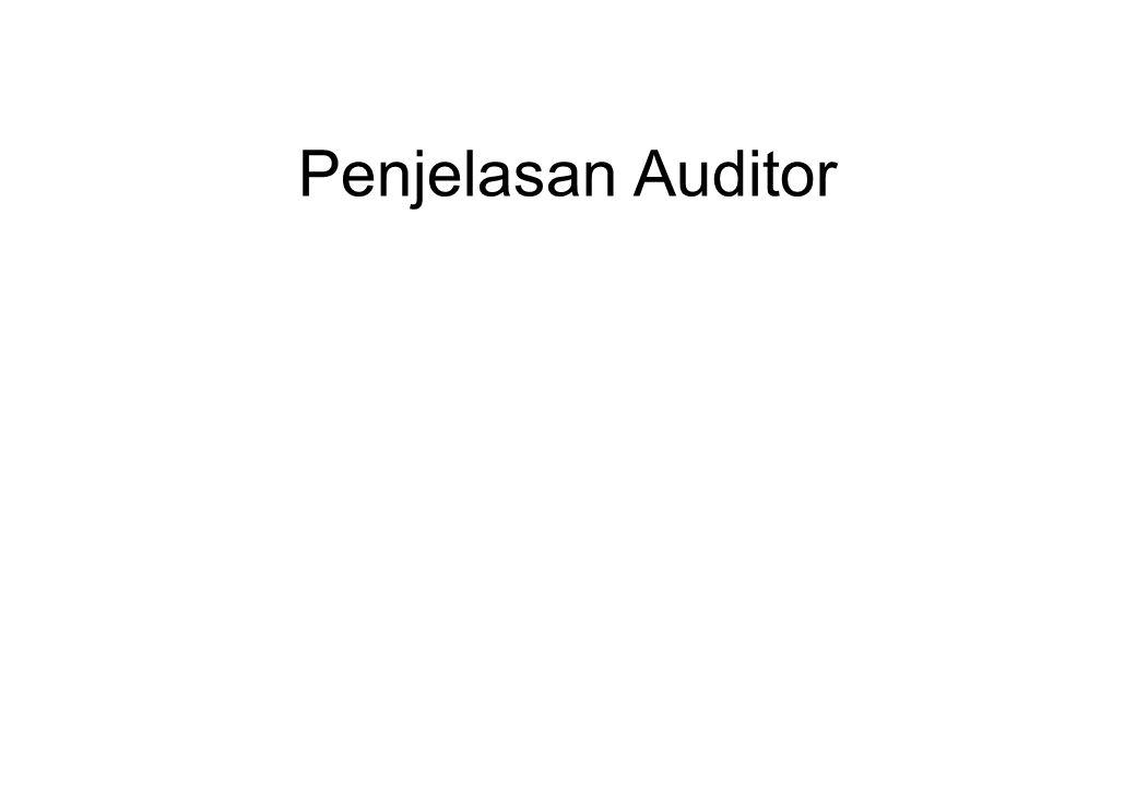 Penjelasan Auditor