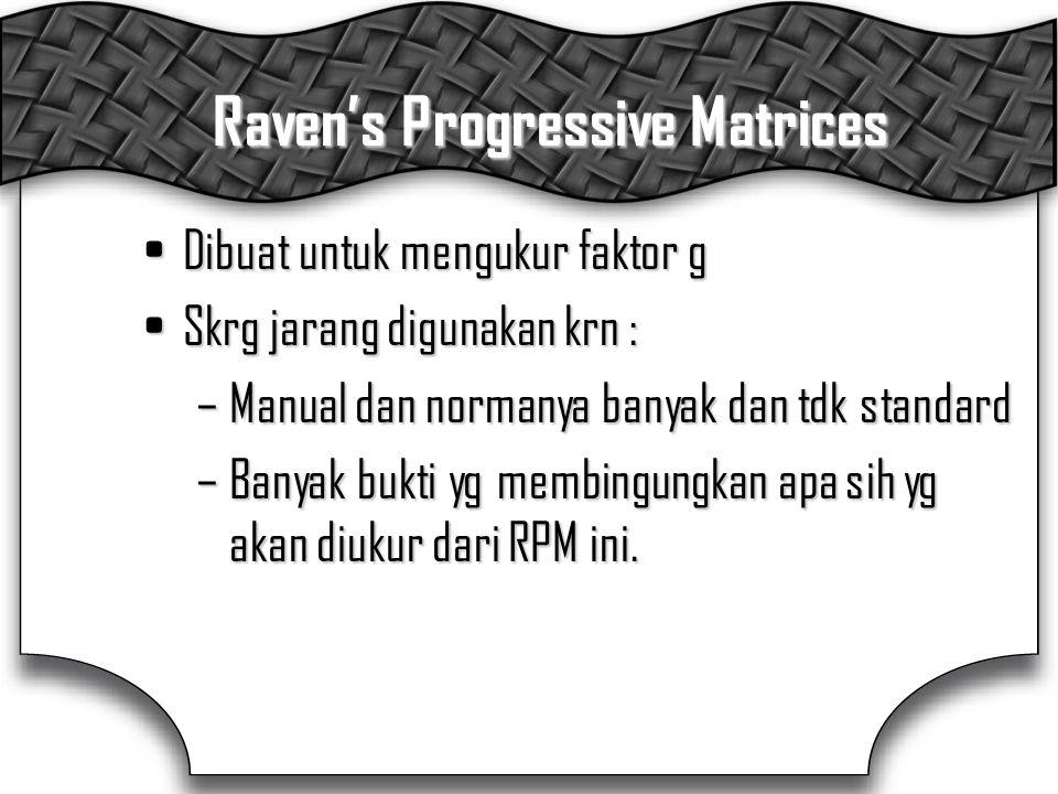Raven's Progressive Matrices