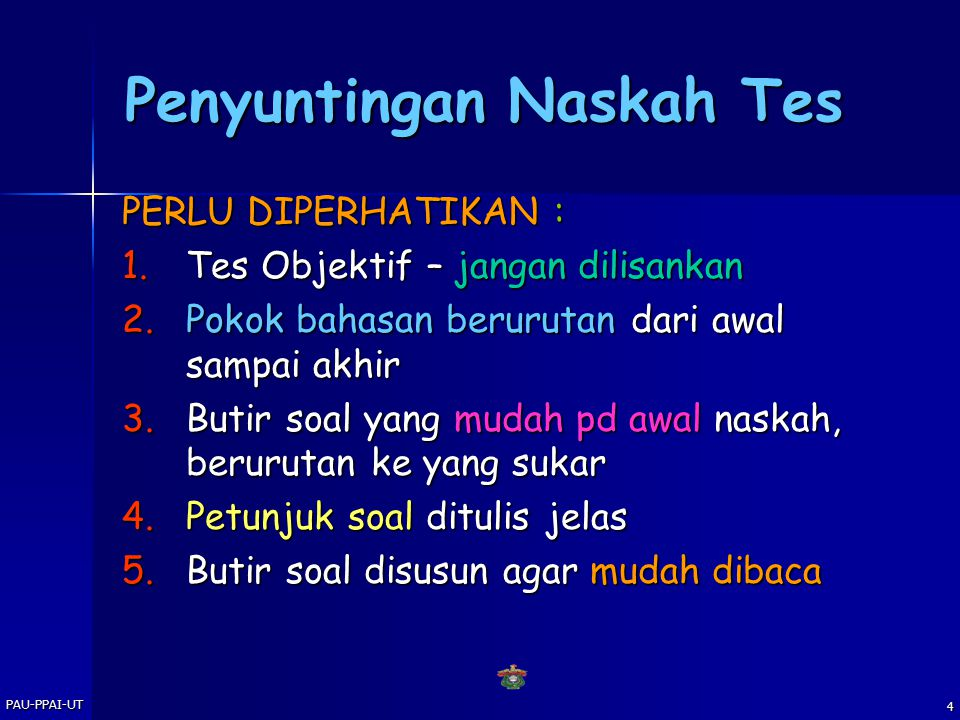 Penyuntingan Naskah Tes