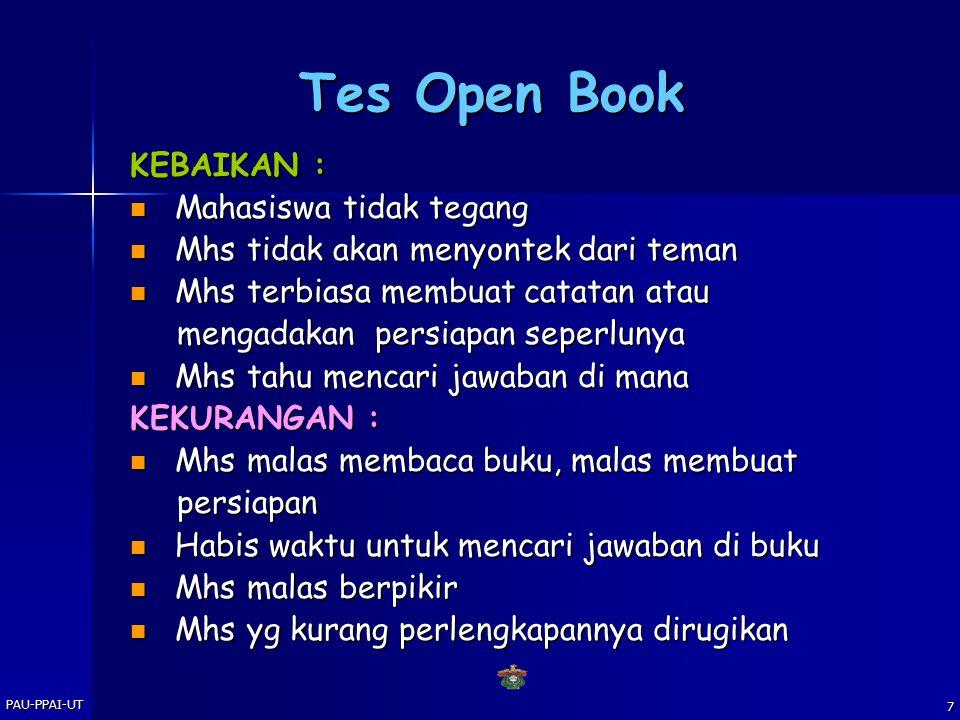 Tes Open Book KEBAIKAN : Mahasiswa tidak tegang