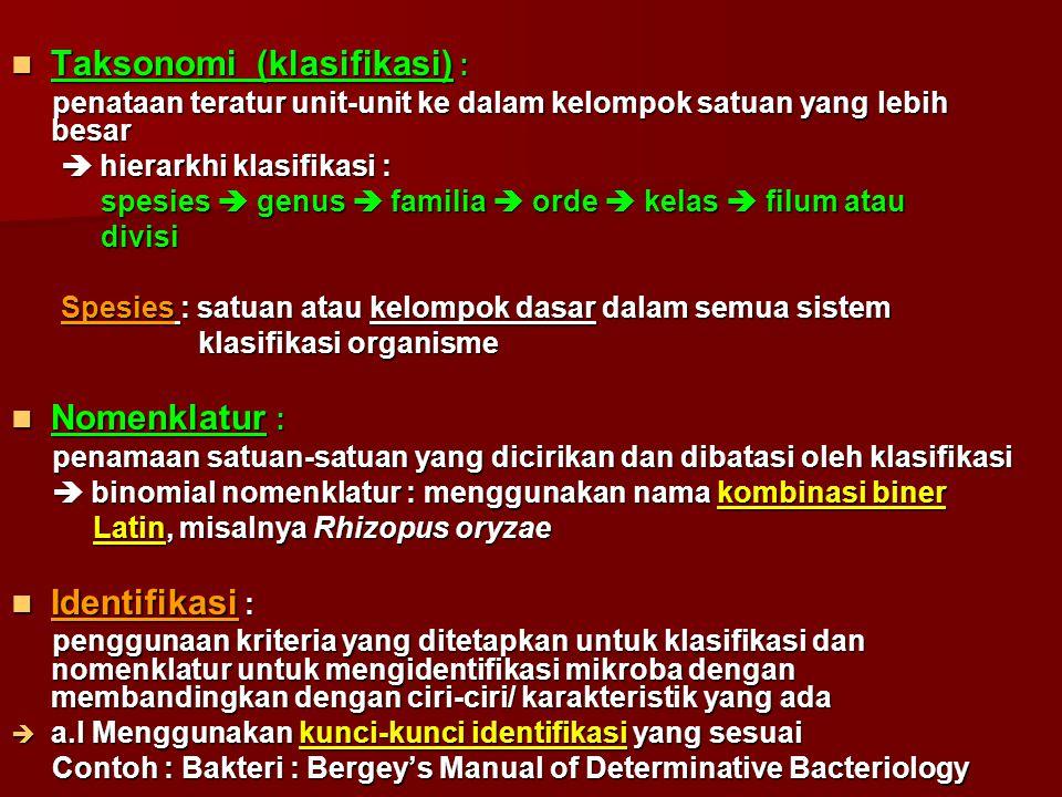 Taksonomi (klasifikasi) :