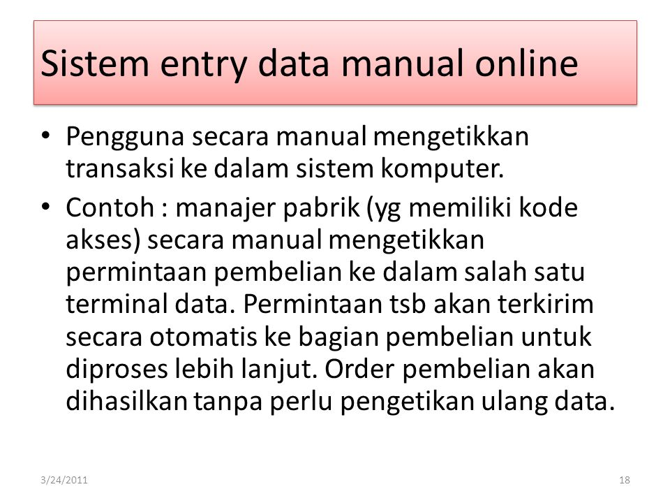 Sistem entry data manual online