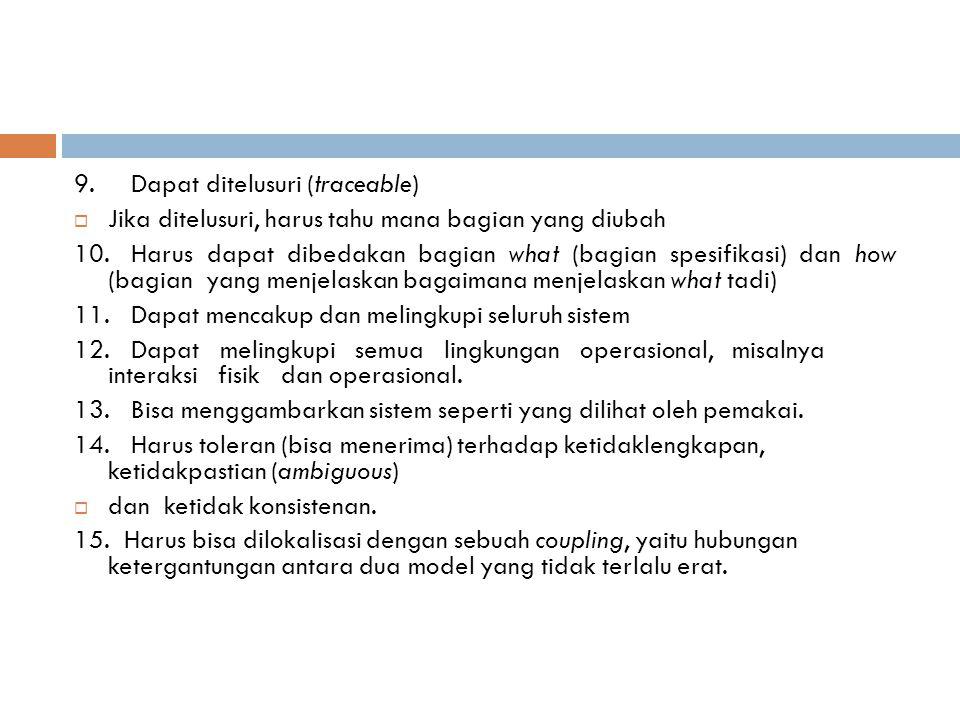 9. Dapat ditelusuri (traceable)