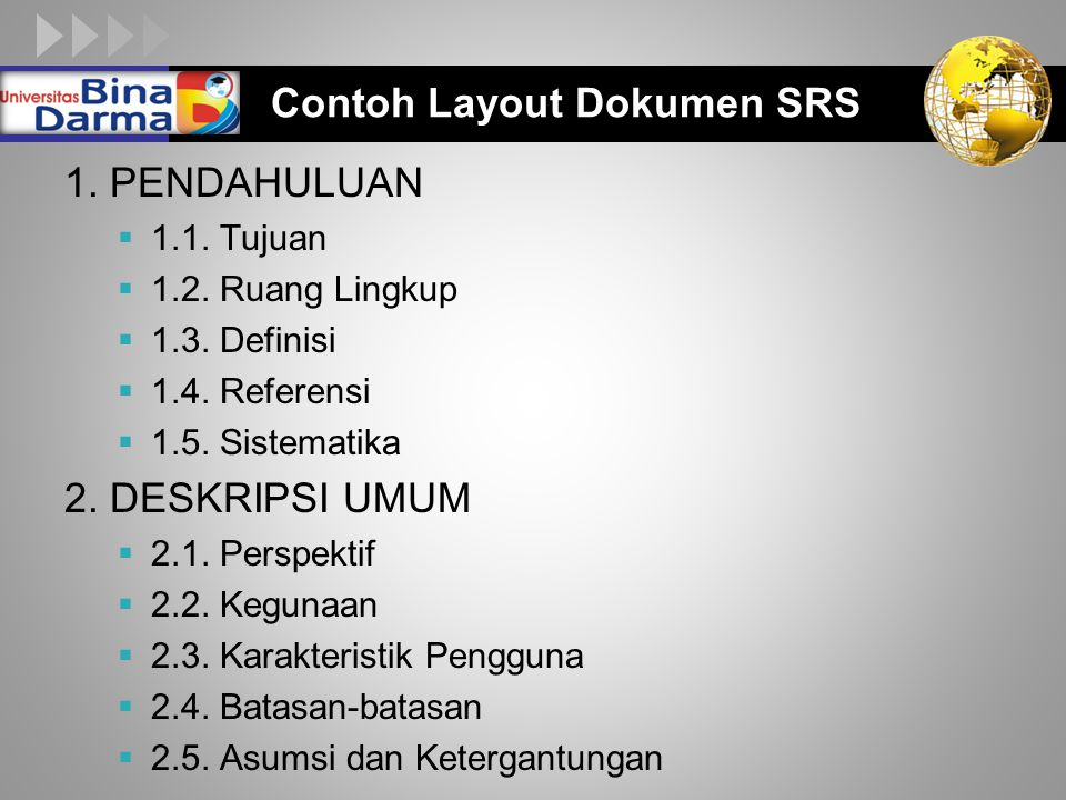 Contoh Layout Dokumen SRS