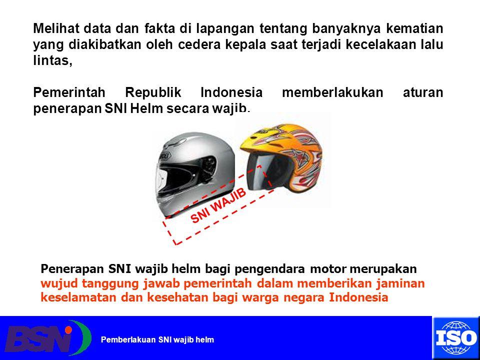 Melihat data dan fakta di lapangan tentang banyaknya kematian yang diakibatkan oleh cedera kepala saat terjadi kecelakaan lalu lintas,