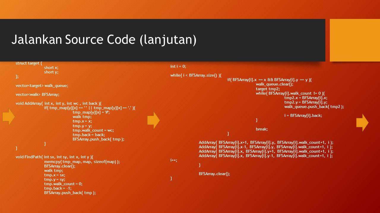 Jalankan Source Code (lanjutan)