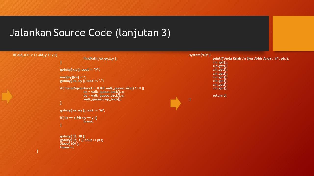 Jalankan Source Code (lanjutan 3)