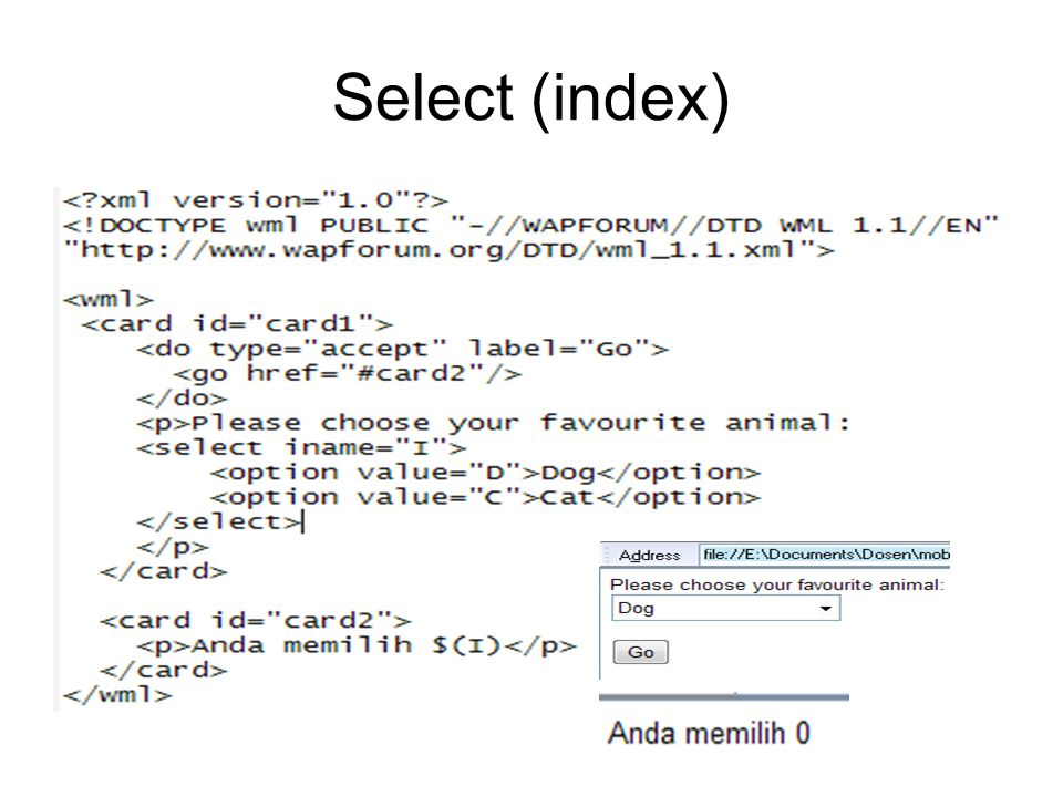 Select (index)