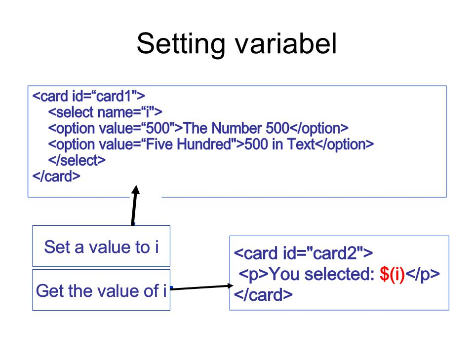 Setting variabel