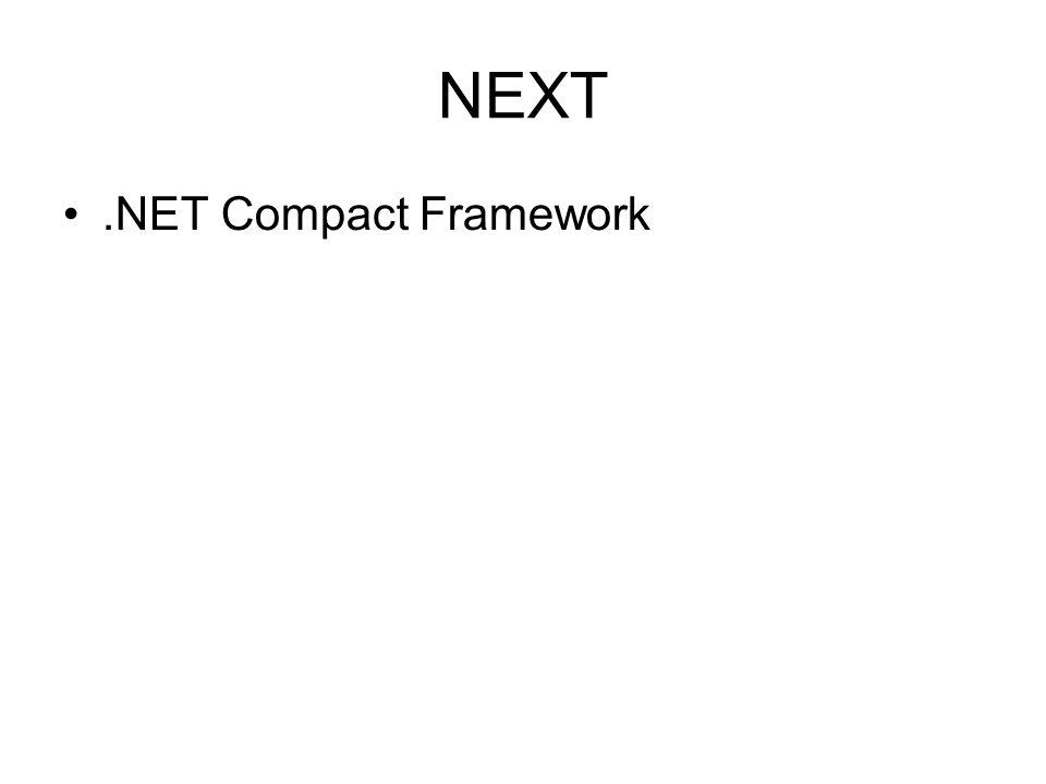 NEXT .NET Compact Framework