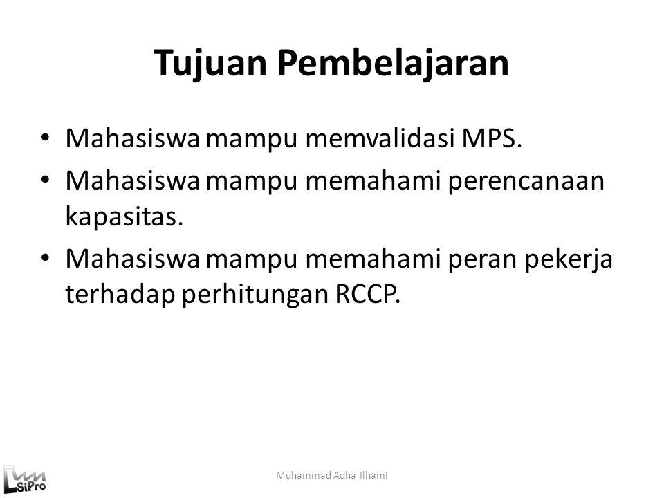 Tujuan Pembelajaran Mahasiswa mampu memvalidasi MPS.