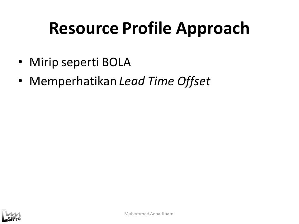 Resource Profile Approach