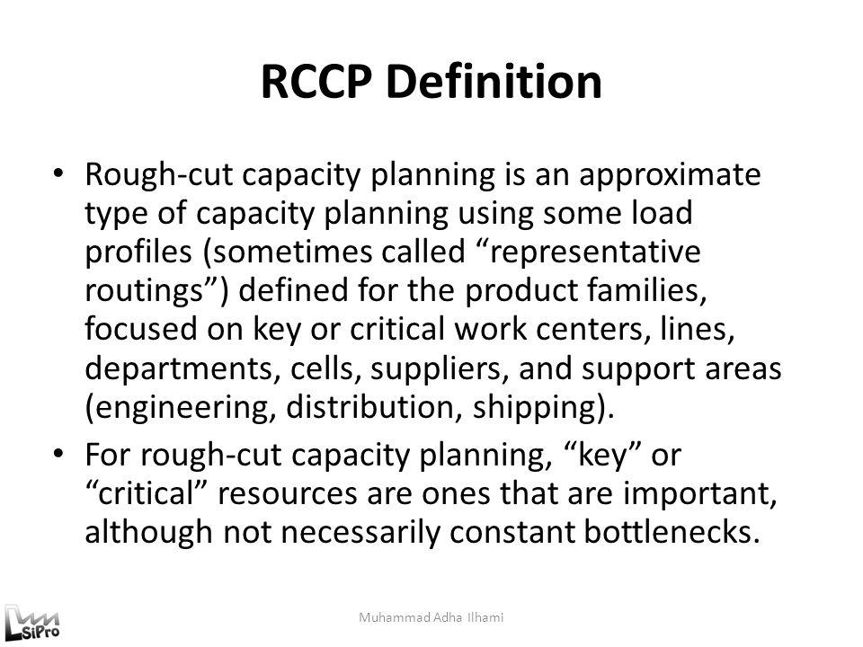 RCCP Definition