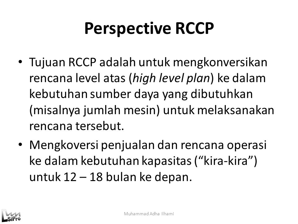 Perspective RCCP
