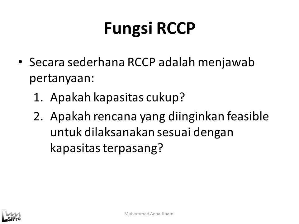 Fungsi RCCP Secara sederhana RCCP adalah menjawab pertanyaan: