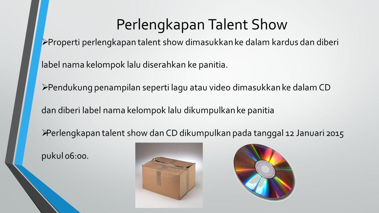 Perlengkapan Talent Show