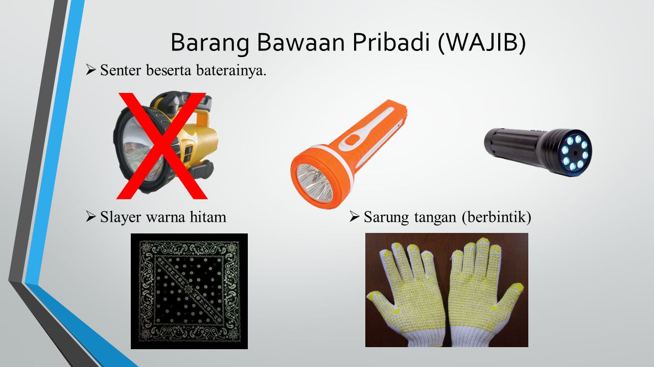 Barang Bawaan Pribadi (WAJIB)