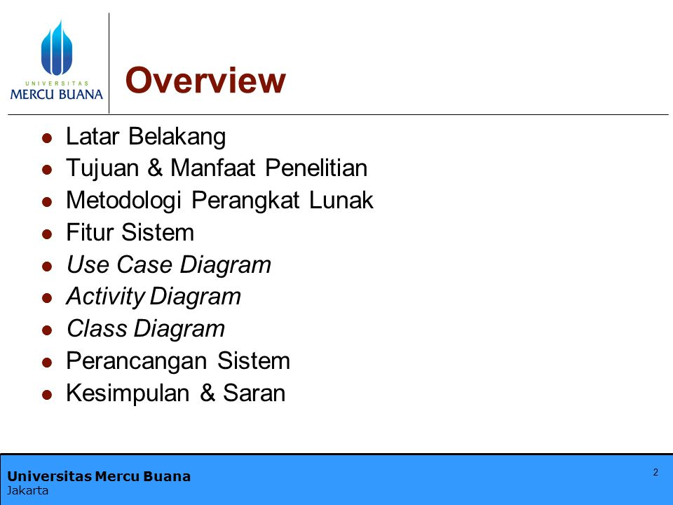 Overview Latar Belakang Tujuan & Manfaat Penelitian