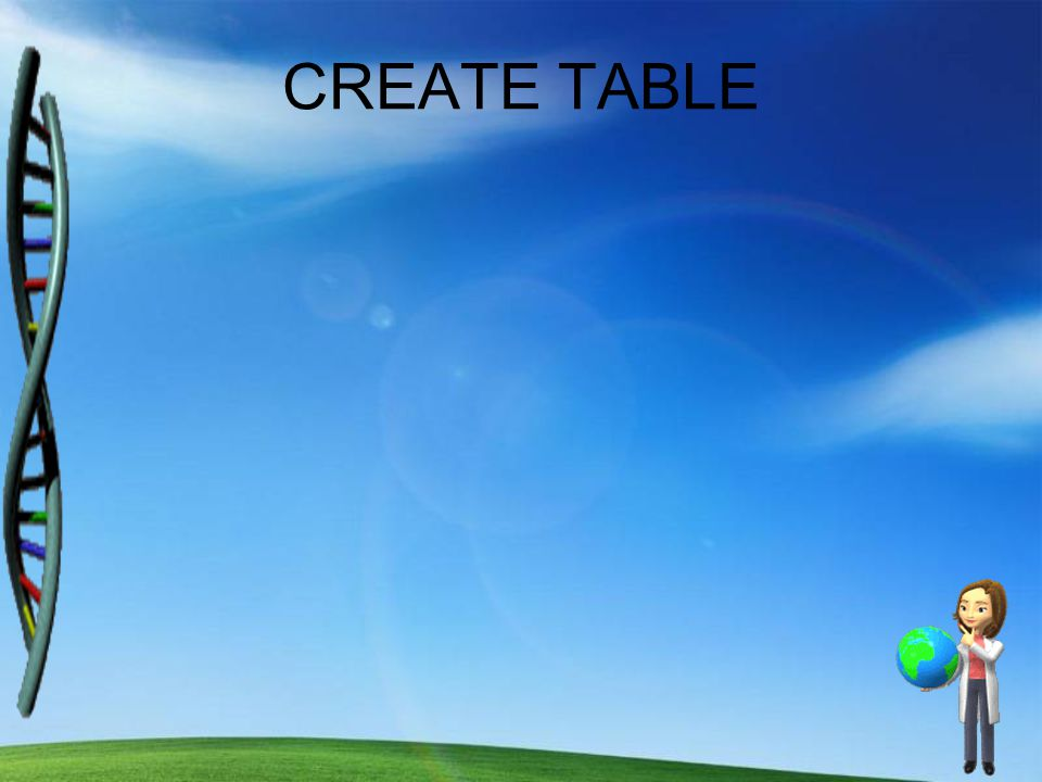 CREATE TABLE