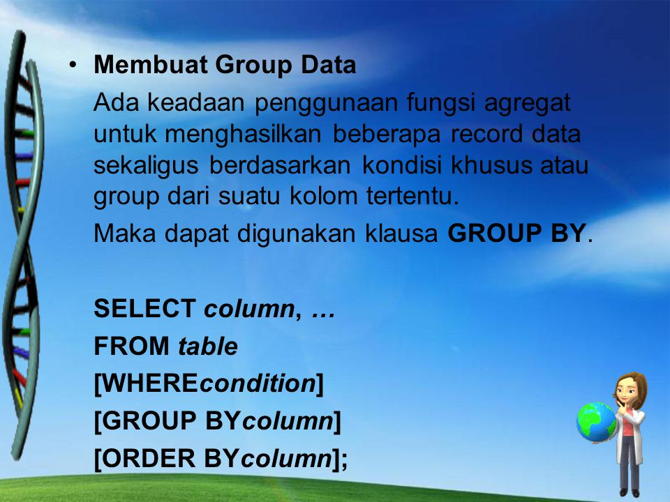 Membuat Group Data
