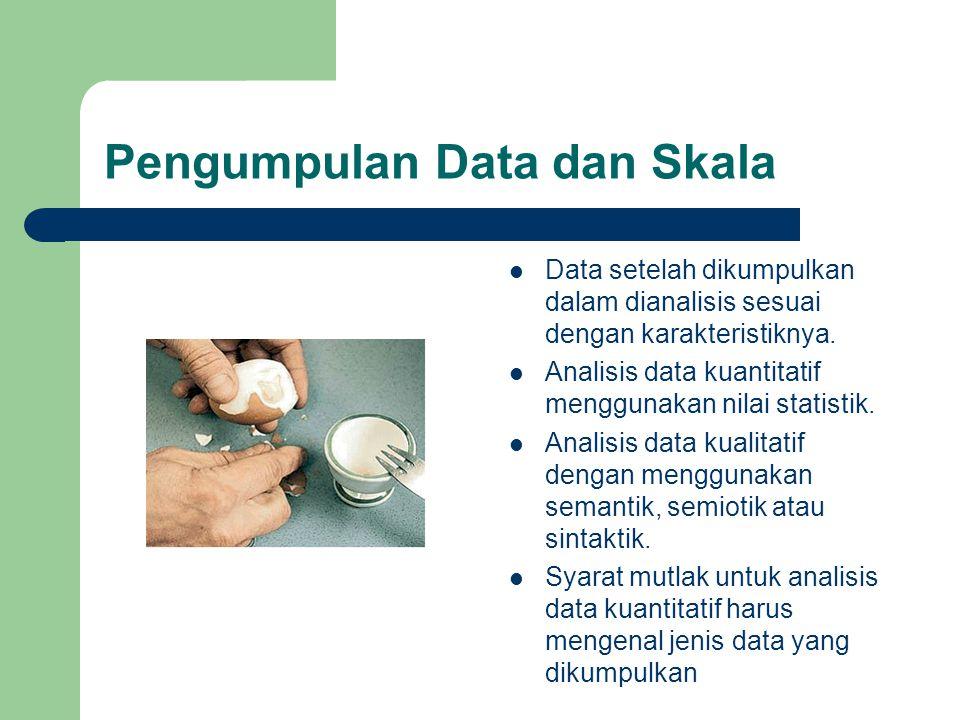 Pengumpulan Data dan Skala