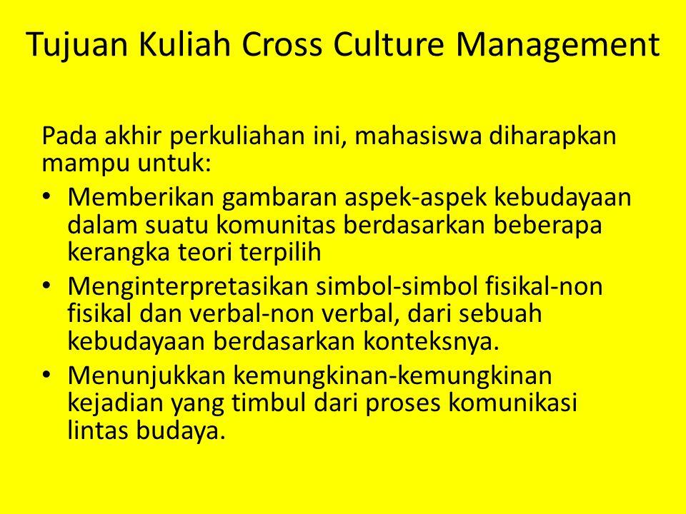 Tujuan Kuliah Cross Culture Management