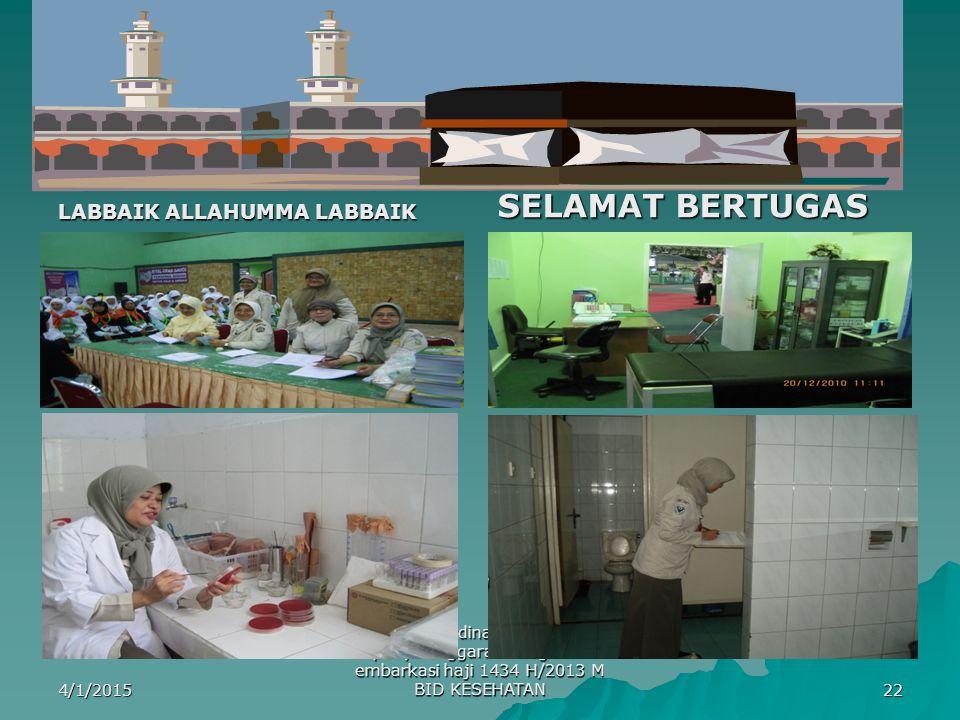 SELAMAT BERTUGAS LABBAIK ALLAHUMMA LABBAIK
