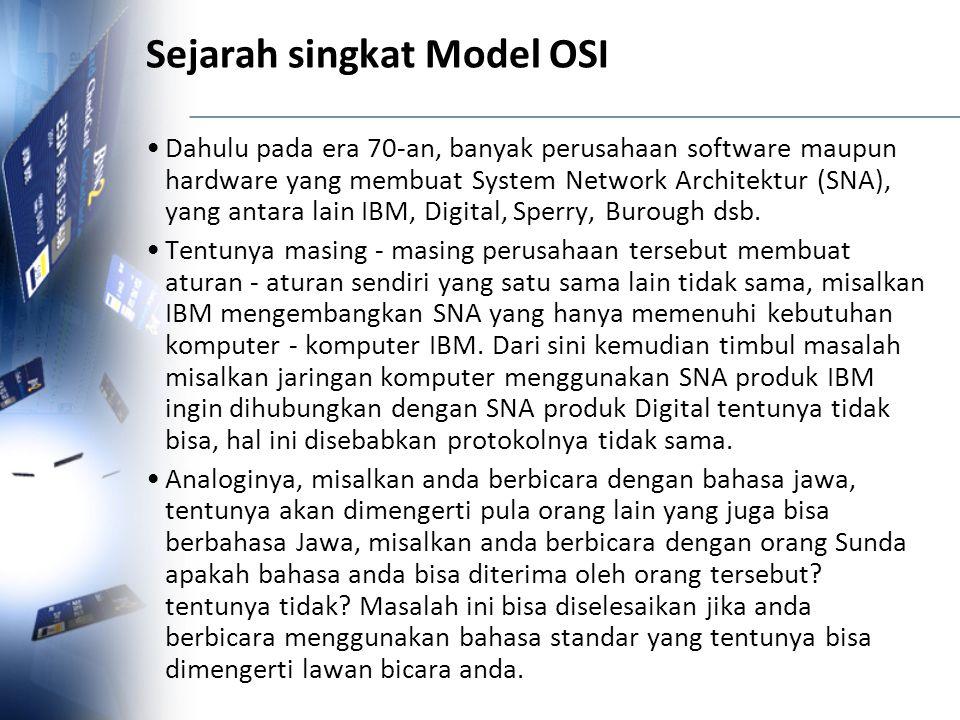 Sejarah singkat Model OSI
