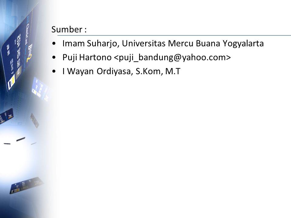 Sumber : Imam Suharjo, Universitas Mercu Buana Yogyalarta.