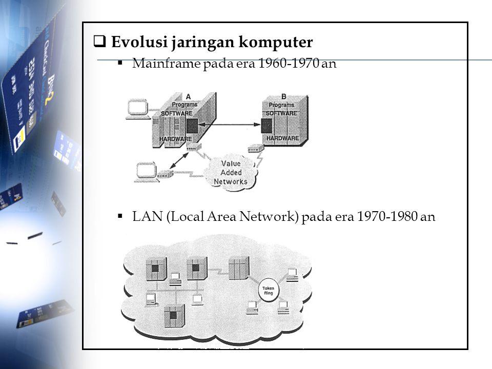 Evolusi jaringan komputer
