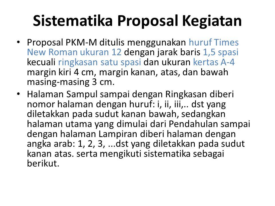 Sistematika Proposal Kegiatan