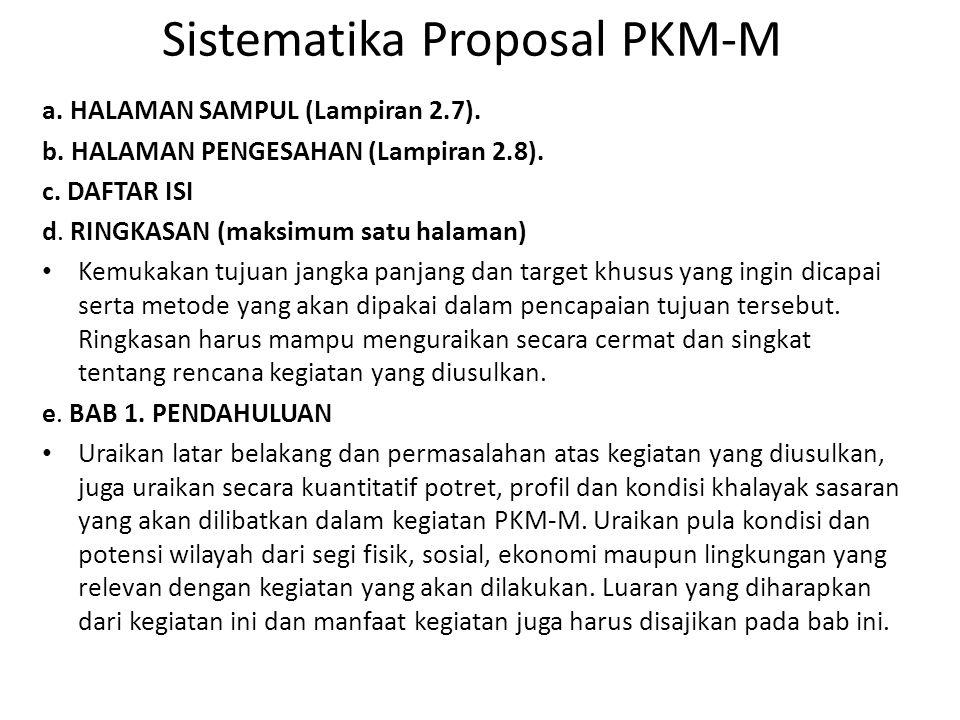 Sistematika Proposal PKM-M