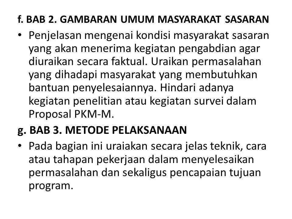 g. BAB 3. METODE PELAKSANAAN