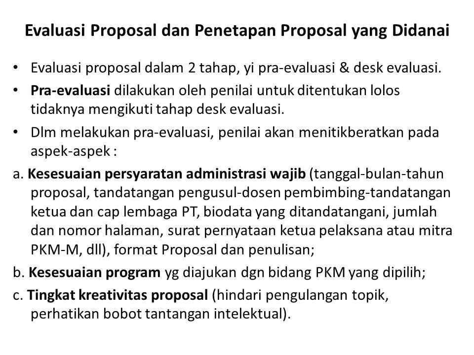 Evaluasi Proposal dan Penetapan Proposal yang Didanai