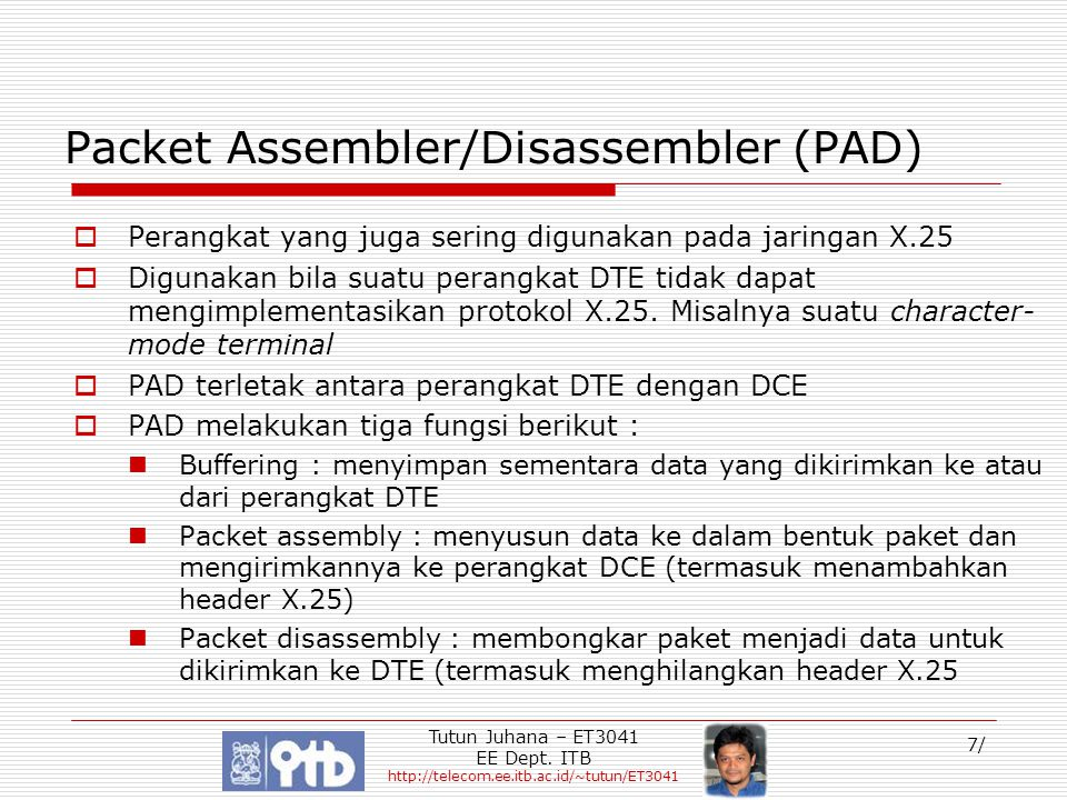 Packet Assembler/Disassembler (PAD)