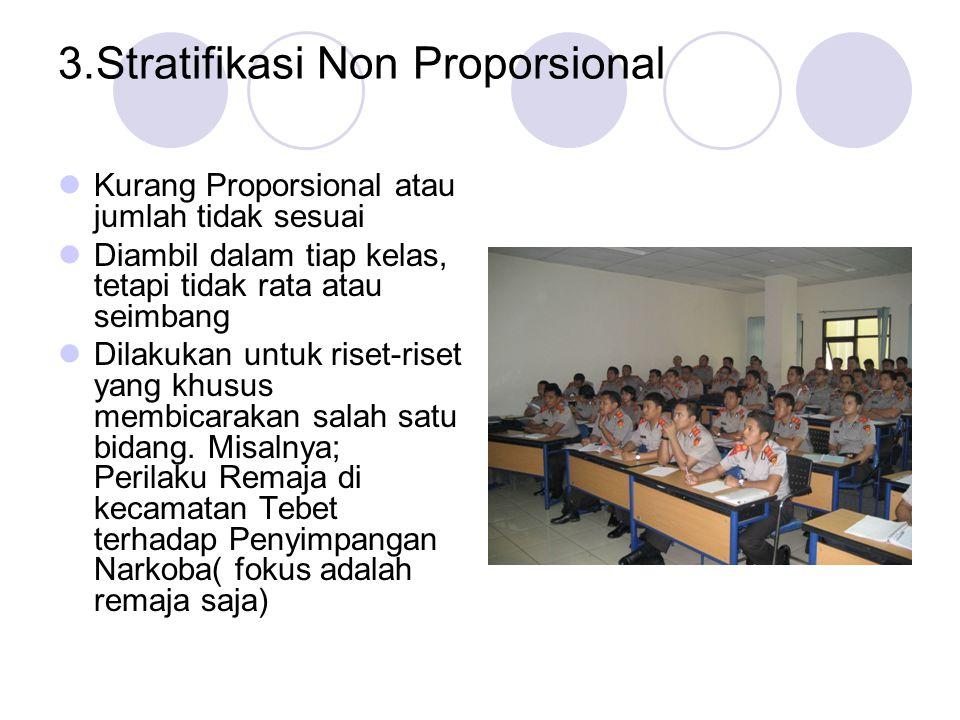 3.Stratifikasi Non Proporsional