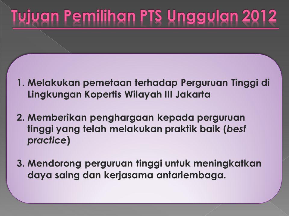 Tujuan Pemilihan PTS Unggulan 2012