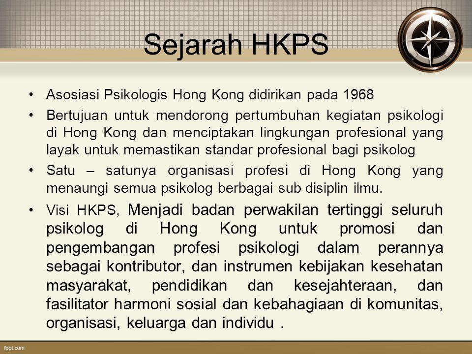 Sejarah HKPS Asosiasi Psikologis Hong Kong didirikan pada 1968