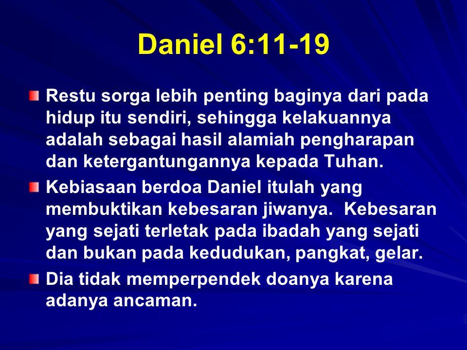 Daniel 6:11-19