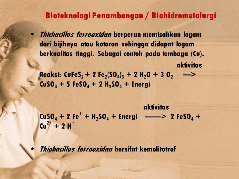 Bioteknologi Penambangan / Biohidrometalurgi