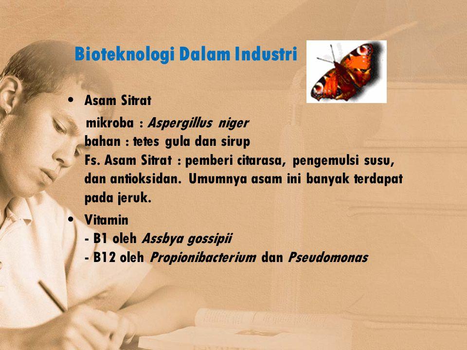 Bioteknologi Dalam Industri