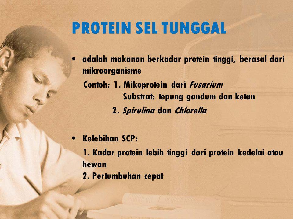 PROTEIN SEL TUNGGAL adalah makanan berkadar protein tinggi, berasal dari mikroorganisme.