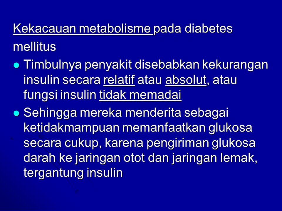 Kekacauan metabolisme pada diabetes