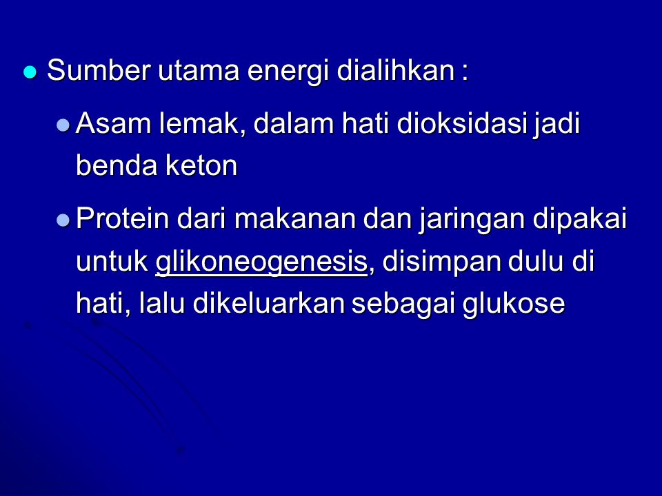 Sumber utama energi dialihkan :